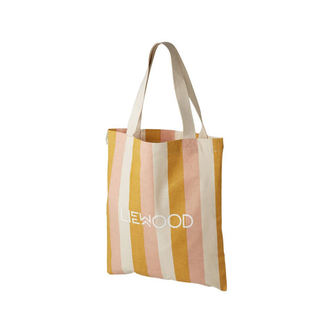 LIEWOOD  Tote Bag Small - Stripe: Peach/sandy/yellow mellow