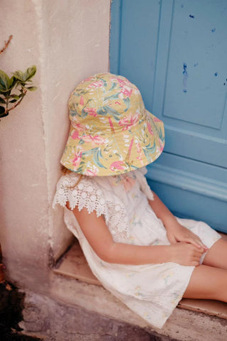 LOUISE MISHA Sun Hat Lagik Soft Honey Parrots
