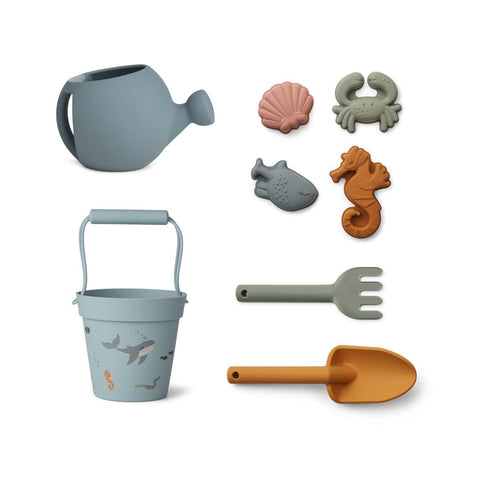 Liewood  Florence Beach and Garden set - Sea creature sea blue multi mix