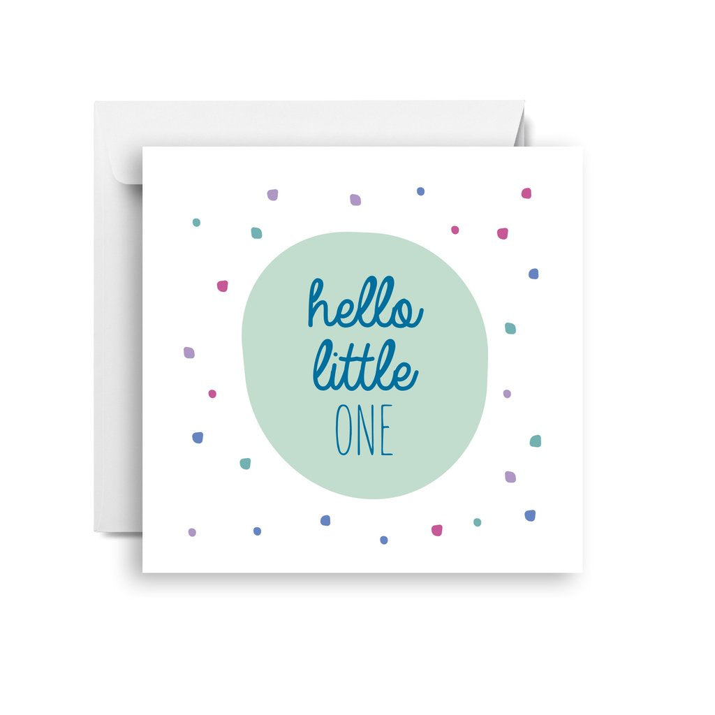 Sprout and Sparrow Hello little one (small) CARD