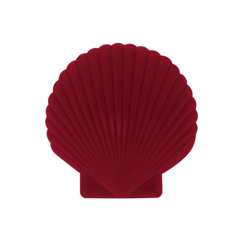 DOIY Shell Jewelry Box red