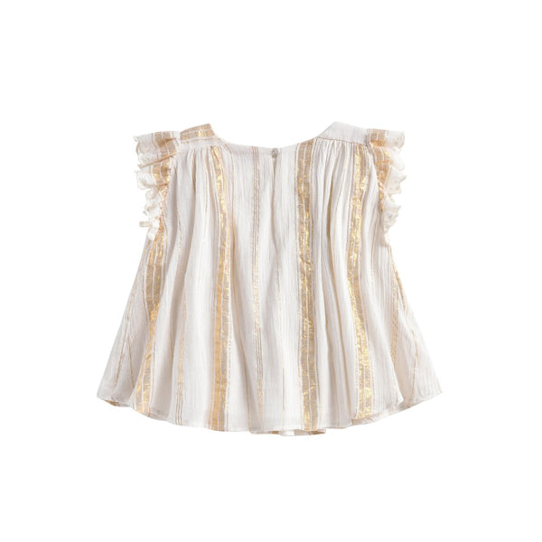 LOUISE MISHA Blouse Serena White & Gold Stripes BABY AND KIDS