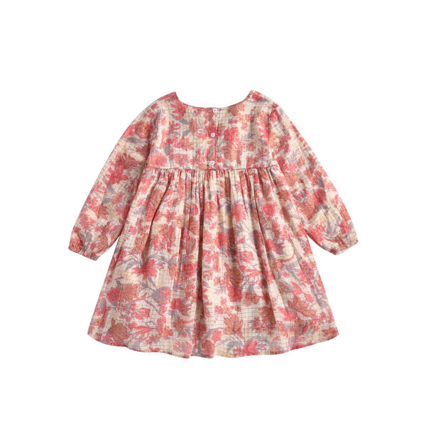 LOUISE MISHA Dress Felizita Pink Flowers BABY AND KIDS