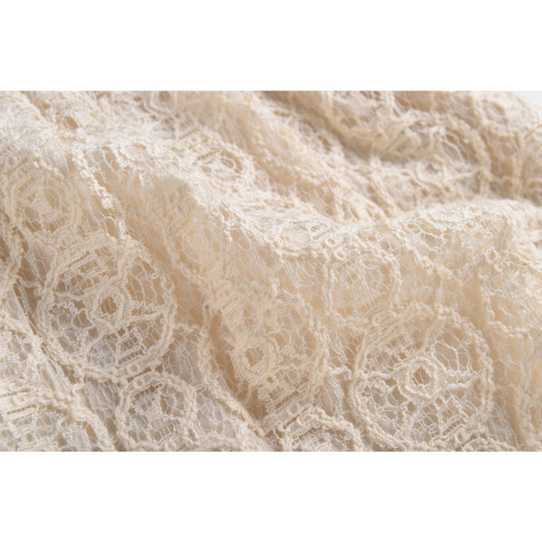 LOUISE MISHA Overalls Karla Cream Sparkle Lace BABY AND KIDS