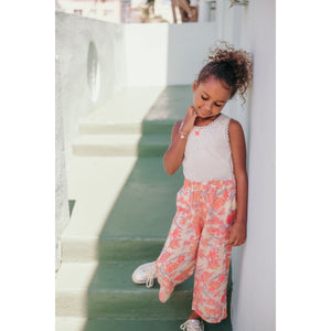 LOUISE MISHA Pants Flor Pink Flowers  BABY AND KIDS