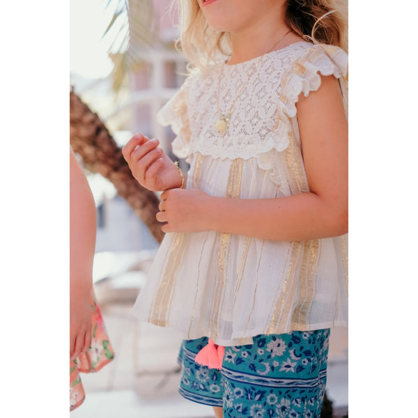 LOUISE MISHA Shorts Vallaloid Emerald Flowers BABY AND KIDS