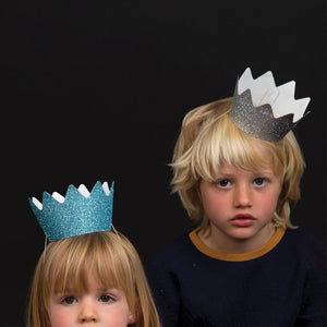 My Little Day glitter crowns - blue