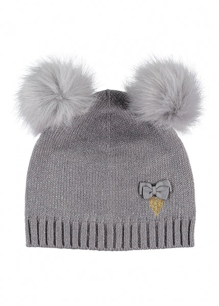 Angel's Face Miley Baby Hat Ash Grey