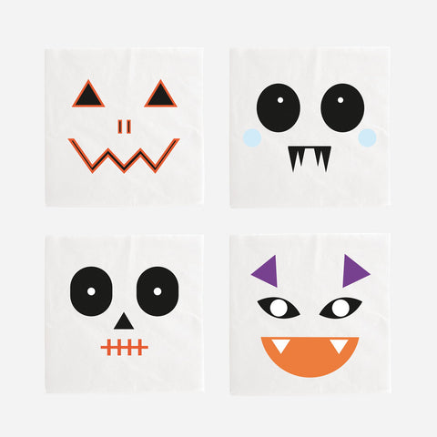 My Little Day paper napkins - mini monsters