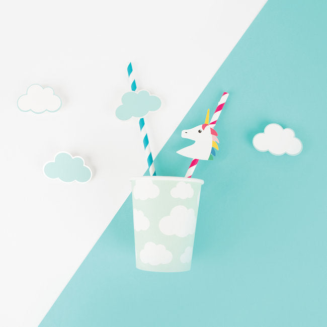 My Little Day  paper straws - clouds