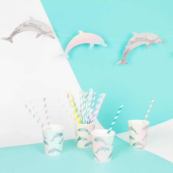 My Little Day  paper straws - mix pastel
