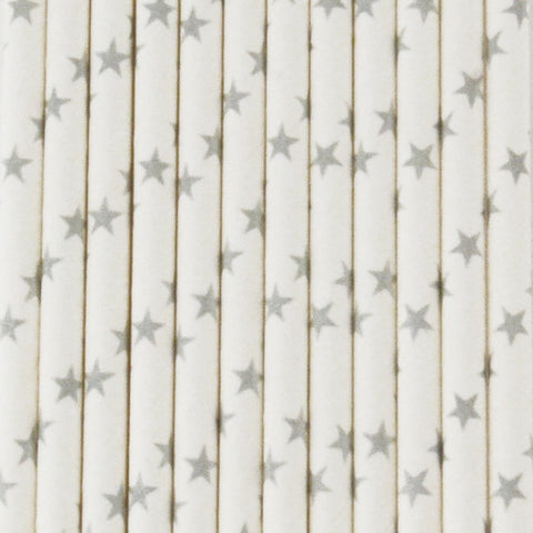My Little Day  paper straws - silver stars