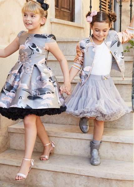 Pixe TuTu Skirt Silver Cloud