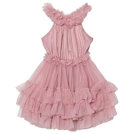 DOLLY by Le Petit Tom ® RUFFLED CHIFFON DANCE DRESS dusty pink/mauve