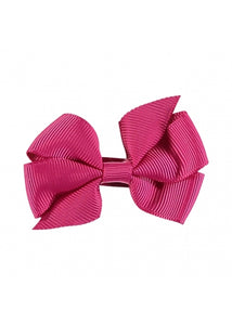 Angel's Face  Small Bow Fuschia Pink