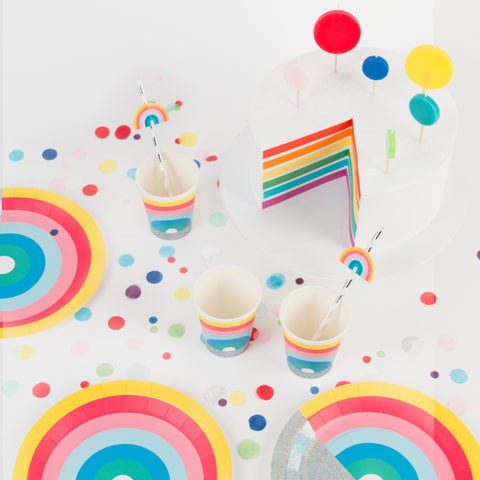 My Little Day paper cups - rainbow  8 paper cups