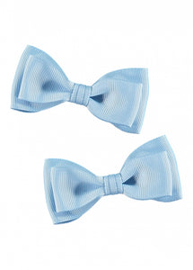 Twin Pack Bows Baby Blue