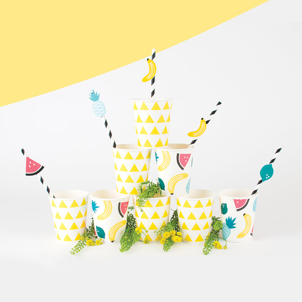 My Little Day  12 paper straws - fruits
