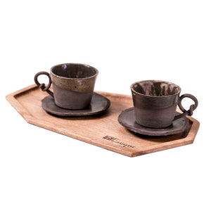 Handmade cups set for coffee lovers or tea lovers