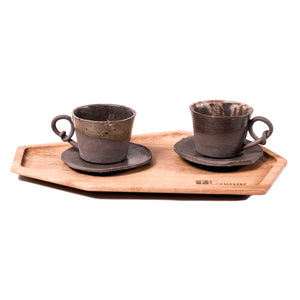 Handmade ceramic cups set for coffe lovers or tea lovers