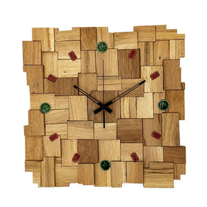 Patched Wood Wall Clock
