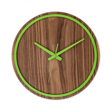Load image into Gallery viewer, Green Wooden Wall Clock