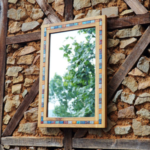Wood Wall Mirror by handmade