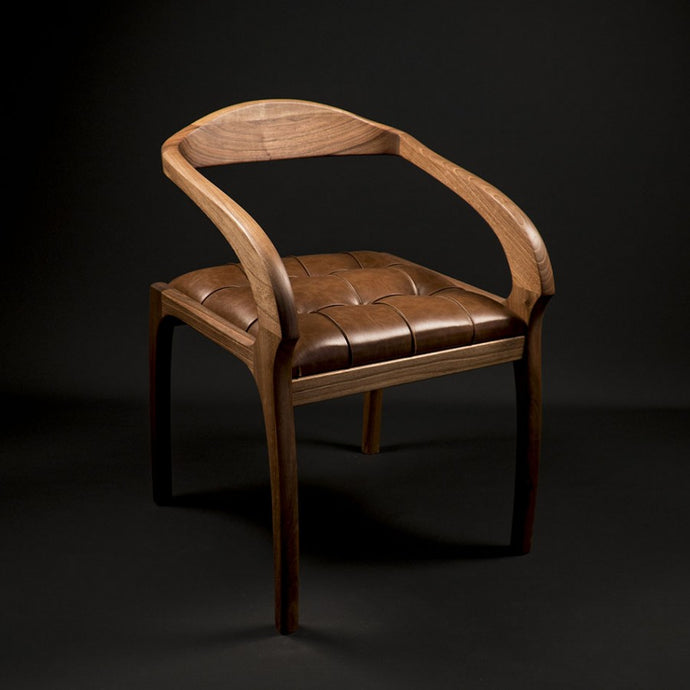 Decorative Wooden Chair - Walnut