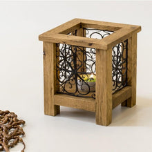 Load image into Gallery viewer, Wooden Candle Holder , Filigree Art