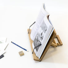 Load image into Gallery viewer, Solid Wood Book Holder for bookworms