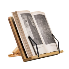 Load image into Gallery viewer, Wooden Book Stand made of Pine. Solid Wood, Natural Polish