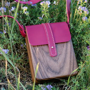 Wood bag for ladies