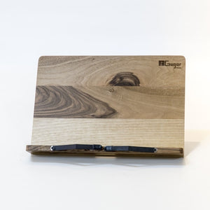 Tablet Pc Holder made of wood, handmade, walnut
