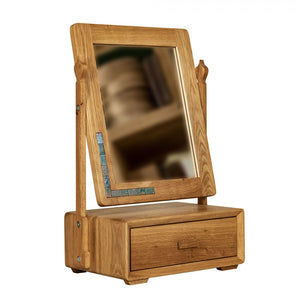 Wooden Mirror with drawer for makeup