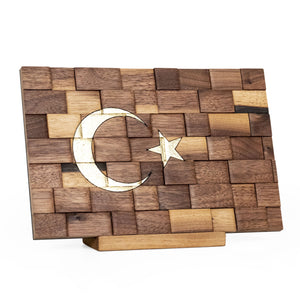 Decorative Wooden Turkish Flag