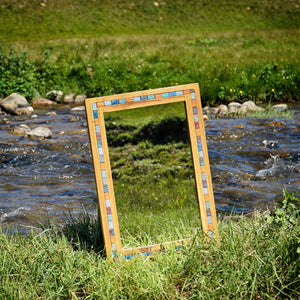 Large Solid Wood Mirror by handmade