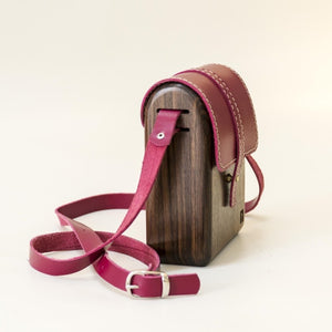 Wooden rustic natural handmade bag