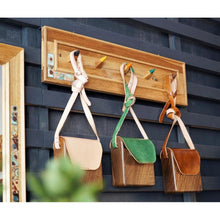 Load image into Gallery viewer, Rustic Coat Rack Handcrafted Using Solid Wood With 5 wooden hooks