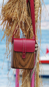 Wooden handmade bag