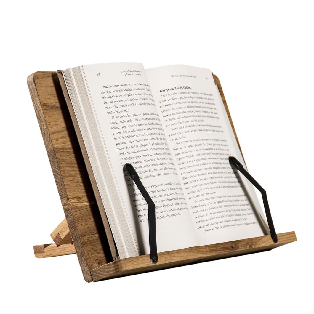 Handmade book stand made of wood