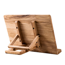 Load image into Gallery viewer, Solid Wood Book Holder to use while reading, writing, drawing