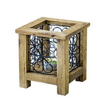 Load image into Gallery viewer, tealight holder, iron filigree art
