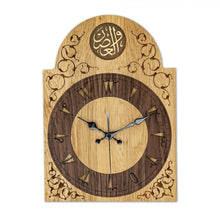 Load image into Gallery viewer, Classical Wooden Clock, Oak Handmade Solid Wood, Decorative and Rustic for home