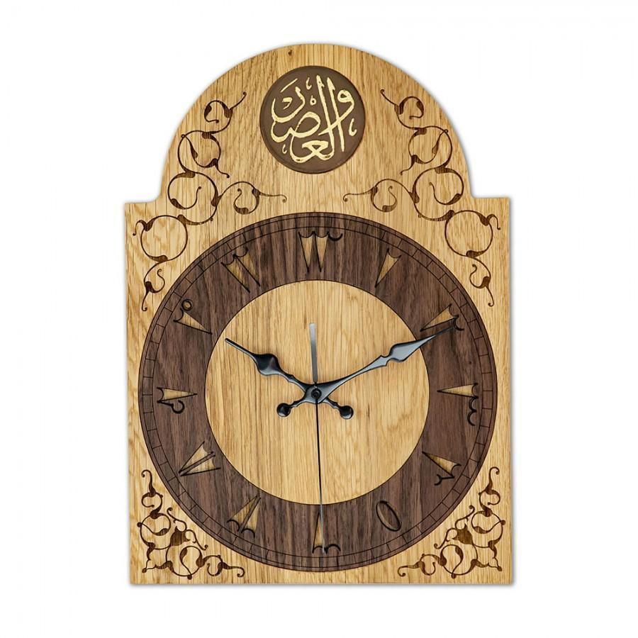 Classical Wooden Clock, Oak Handmade Solid Wood, Decorative and Rustic for home