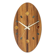 Load image into Gallery viewer, Ceramics-Wood Wall clock