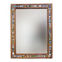 Load image into Gallery viewer, Decorative Handmade Wooden Wall Mirror made of Walnut