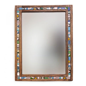 Decorative Handmade Wooden Wall Mirror made of Walnut