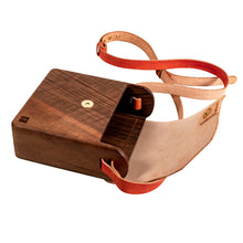 Load image into Gallery viewer, Wooden rustic wood bag