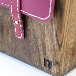 Handmade wooden purse for women