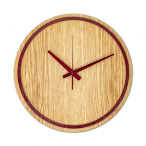 Red Wooden Wall Clock